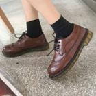 Faux Leather Brogue Oxfords