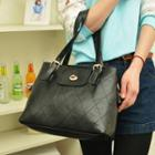 Faux-leather Quilted Tote