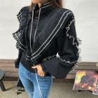 Frilled Pleated Knit Blouse