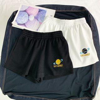 Planet Embroidered Shorts