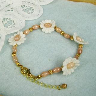 Vintage Classic Lace Flower Bracelet(pink)