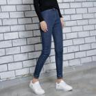 Furry-lined Skinny Jeans