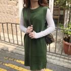 Side Split Sleeveless Knit Dress