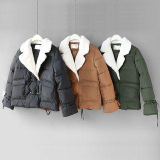 Shearling Collar Padded Jacket