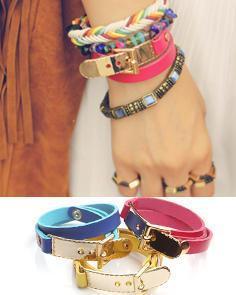 Buckled Faux Leather Bracelet