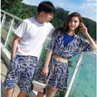 Couple Matching Pattern Swim Dress / Tankini Top / Beach Shorts / Set