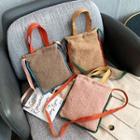 Furry Color Block Crossbody Bag