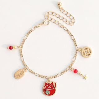 Fortune Cat Alloy Bracelet (various Designs)