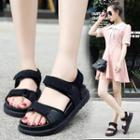 Platform Panel Velcro Sandals