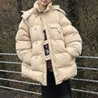 Hooded Padded Button Coat