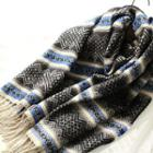 Fringe-trim Patterned Scarf
