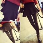 Inset Ruffle Hem Skirt Leggings