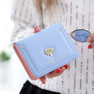 Studded Faux Leather Wallet