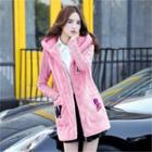 Letter Hooded Coat