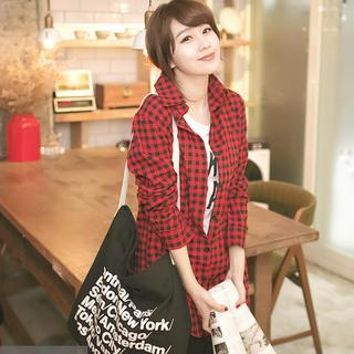 Gingham Long Shirt