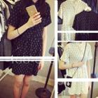 Short-sleeve Print Chiffon Dress