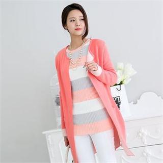 Color-block Open-front Jacket