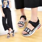 Sequined Adhesive Strap Sandals