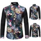 Floral Jacquard Paneled Shirt