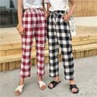 Gingham Linen Blend Pants
