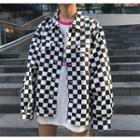 Checked Zip Jacket
