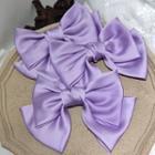 Satin Bow Hair Clip Purple - One Size