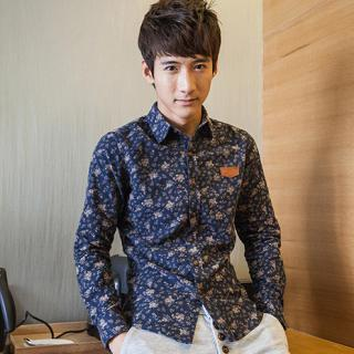 Long-sleeve Floral Shirt