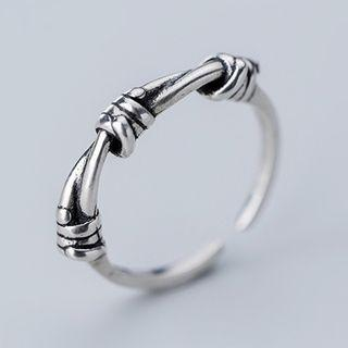 925 Sterling Silver Knot Open Ring Ring - Open - One Size
