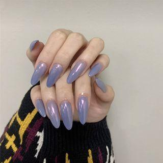Pointed Faux Nail Tip 515 - Glue - Light Purple - One Size