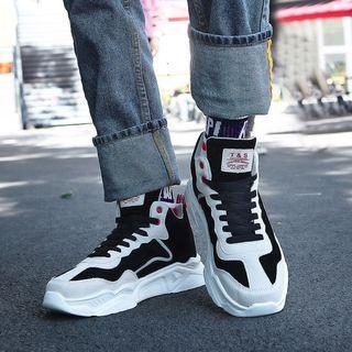 Velvet Platform High-top Sneakers