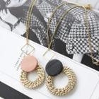 Rattan-pendent Chain Necklace