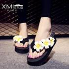 Flower Platform Flip Flops