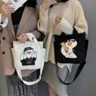 Goose Print Canvas Tote Bag