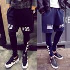 Inset Printed Leggings Shorts