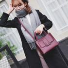 Plain Buckled Shoulder Bag