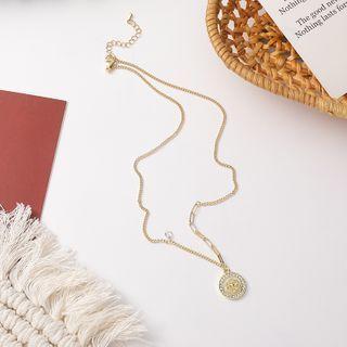 Flower Rhinestone Stud Earring / Necklace