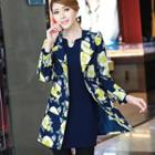 Floral Double-breasted Coat