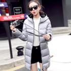 Print Hooded Puffer Coat