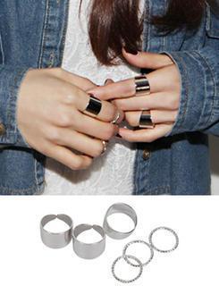 Set Of 5: Rings