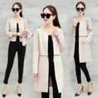 Open Front Detachable Coat