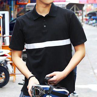 Colour Block Short-sleeve Polo Shirt