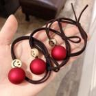 Smiley Metal Bead Hair Tie 2187 - As Shown In Figure - One Size