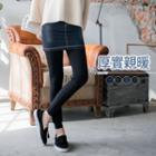Inset Skirt Leggings Black - F
