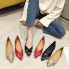 D-ring Patent Pointy-toe Flats
