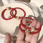 Alloy Fortune Cat / Pig Red String Bracelet