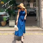 Halter-neck Strappy Maxi Pinafore Dress