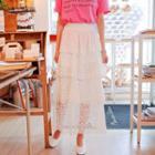 Lace Layered Maxi Skirt