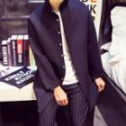 Stand-collar Long Jacket
