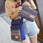 Pattern Canvas Cross Bag