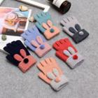 Rabbit Ear Fingerless Knit Gloves